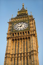 Big ben clock tower most famous symbol of london elizabeth westminster palace united kingdom Royalty Free Stock Images