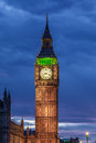 Big ben clock tower and parliament house at city of westminster Royalty Free Stock Image