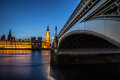 Big ben clock tower and parliament house at city of westminster Royalty Free Stock Photos
