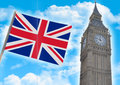Big Ben close up against Royalty Free Stock Photo
