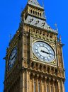 Big Ben close up with blue sky,London Royalty Free Stock Photo