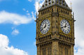 Big Ben closeup with clouds Royalty Free Stock Image