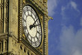 Big ben closeup of elizabeth tower palace of westminster in london Stock Photo