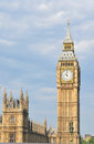 Big ben detail of the famous clock tower in london uk Royalty Free Stock Photo