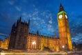 Big Ben e Camera del Parlamento al crepuscolo con le nuvole da Westmin Fotografia Stock Libera da Diritti