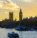Big ben en la puesta del sol Imagen de archivo