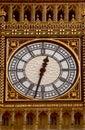 Big Ben face clock Royalty Free Stock Photo