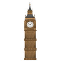 Big ben form paper art isolated on white background Royalty Free Stock Images