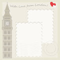 Big Ben greeting card Stock Photography