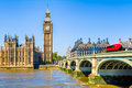 Big Ben and House of Parliament in London Royalty Free Stock Photo