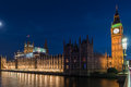 Big Ben and House of Parliament in London, UK Royalty Free Stock Photo