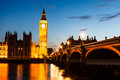 Big Ben and House of Parliament at Night Royalty Free Stock Photo