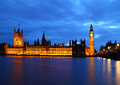 Big Ben and House of Parliament at River Thames Royalty Free Stock Photo