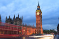 Big Ben and house of parliament at twilight, London Royalty Free Stock Photo