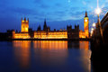 Big Ben and Houses of Parliament Stock Photos