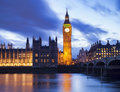 Big Ben and Houses of Parliament at a beautiful sunset landscape, London Royalty Free Stock Photo
