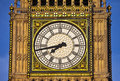 Big ben houses of parliament close up shot in london Royalty Free Stock Photo