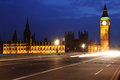 Big ben and houses of parliament at evening Stock Photography