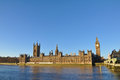 Big Ben and Houses of Parliament in London Stock Image