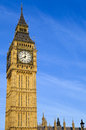 Big ben houses of parliament in london the magnificent Royalty Free Stock Images