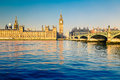 Big ben and houses of parliament london in uk Royalty Free Stock Image