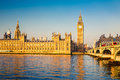 Big ben and houses of parliament london in uk Royalty Free Stock Photography