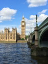 Big ben and houses of parliament in london uk are the most well known symbols Stock Image