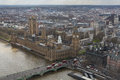 Big ben houses of parliament and westminster abbey bird s eye view in london england Royalty Free Stock Photography