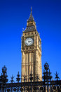 Big ben of the houses of parliament world famous international landmark in westminster london england uk which was built on Stock Images
