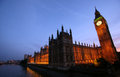 Big ben and the houses of parliment at sunset Royalty Free Stock Photos
