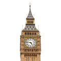 Big Ben, isolated on white background Royalty Free Stock Image