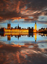 Big ben le soir londres angleterre Photos libres de droits