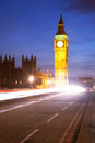 Big Ben Light Trail Stock Images