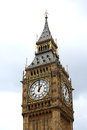 Big ben in london the clock on the tower of Stock Photography