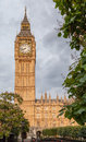 Big ben in london the clock tower of the downtown england Stock Image