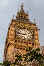 Big ben in london the clock tower of the downtown england Royalty Free Stock Image