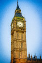 Big Ben, London, England, the UK. Royalty Free Stock Photo