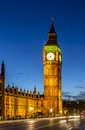 Big ben london houses of parliament with at sunset Stock Photography