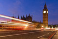 Big ben london and traffic lights in uk Royalty Free Stock Photography
