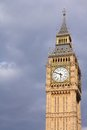 Big ben london united kingdom palace of westminster houses of parliament clock tower unesco world heritage site Royalty Free Stock Photo