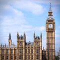 Big ben london united kingdom palace of westminster houses of parliament with clock tower unesco world heritage site square Royalty Free Stock Photo
