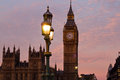 Big ben in london and westminster palace uk Royalty Free Stock Image