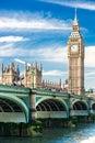 Big Ben, Londres, Reino Unido. Fotografía de archivo