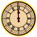Big Ben Midnight Clock Face Royalty Free Stock Photo