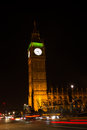 Big ben in the nigh image of Royalty Free Stock Photography