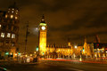 Big Ben night scene Stock Photography