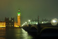 Big Ben noc Fotografia Royalty Free
