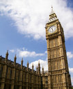 Big Ben of the Palace of Westminster,London, UK Stock Image