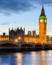 Big ben and the palace of westminster london uk at sunset Royalty Free Stock Photos