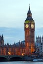 Big ben and river thames international landmark of london england united kingdom at dusk Royalty Free Stock Images